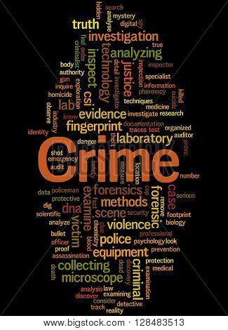 Crime, Word Cloud Concept 6