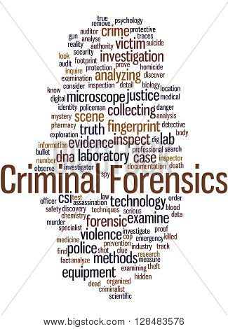 Criminal Forensics, Word Cloud Concept 12