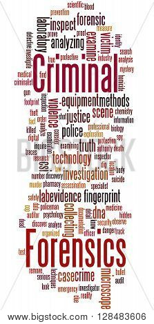 Criminal Forensics, Word Cloud Concept 5