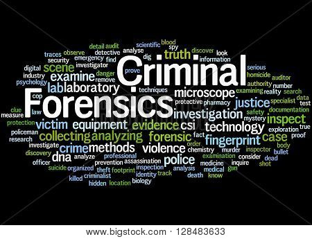 Criminal Forensics, Word Cloud Concept 8