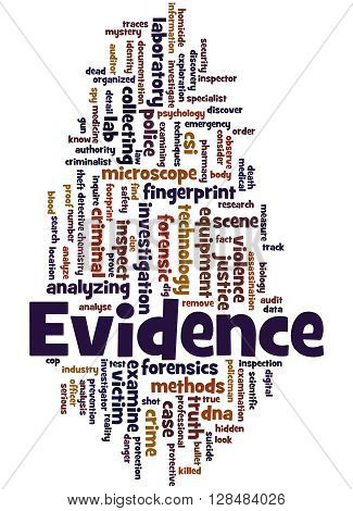 Evidence, Word Cloud Concept 2