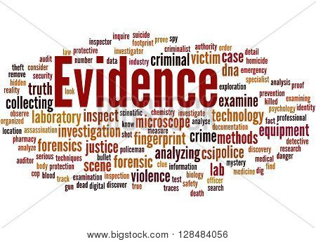 Evidence, Word Cloud Concept 3