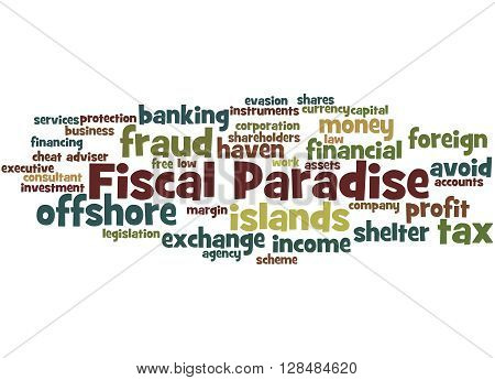 Fiscal Paradise, Word Cloud Concept 2