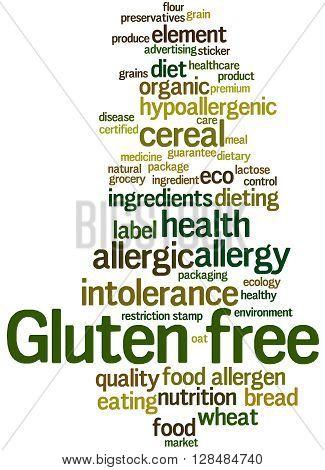Gluten Free, Word Cloud Concept 2