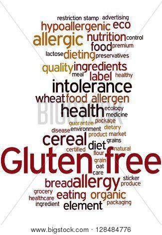 Gluten Free, Word Cloud Concept 3