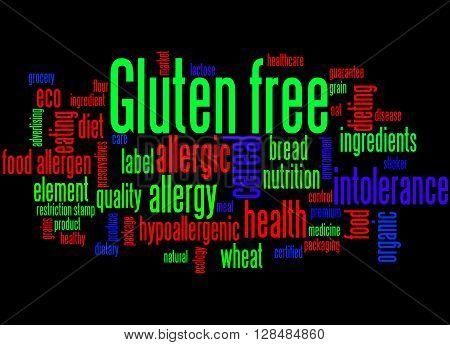 Gluten Free, Word Cloud Concept 9