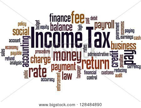 Income Tax, Word Cloud Concept