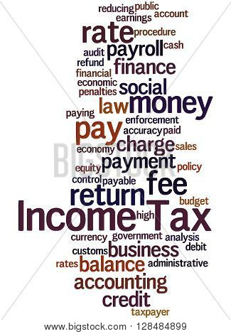 Income Tax, Word Cloud Concept 3