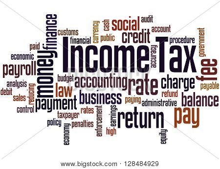 Income Tax, Word Cloud Concept 9