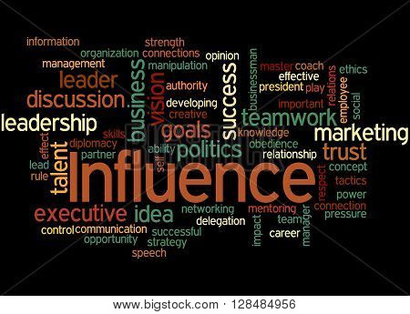 Influence, Word Cloud Concept 5