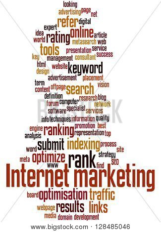 Internet Marketing, Word Cloud Concept 6