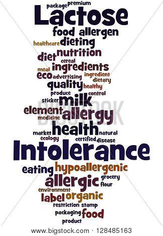 Lactose Intolerance, Word Cloud Concept