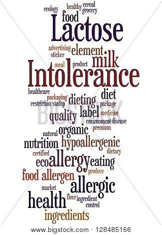 Lactose Intolerance, Word Cloud Concept 10