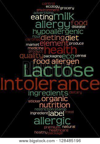 Lactose Intolerance, Word Cloud Concept 8