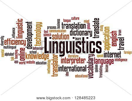 Linguistics, Word Cloud Concept 3