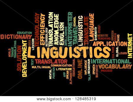 Linguistics, Word Cloud Concept 6