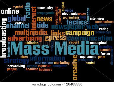 Mass Media, Word Cloud Concept 6