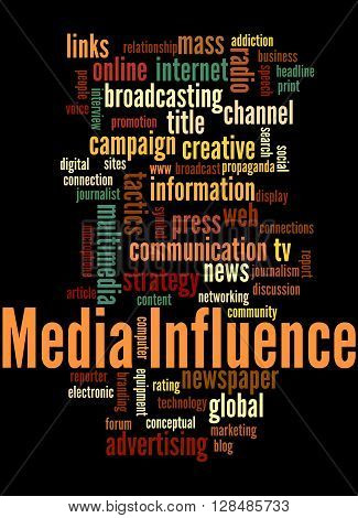Media Influence, Word Cloud Concept 6