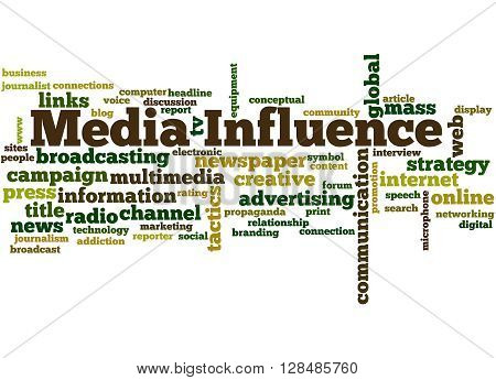 Media Influence, Word Cloud Concept 8