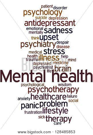 Mental Health, Word Cloud Concept 8