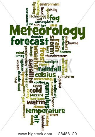 Meteorology, Word Cloud Concept 9
