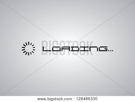 Loading icon simple style, vector eps10 illustration