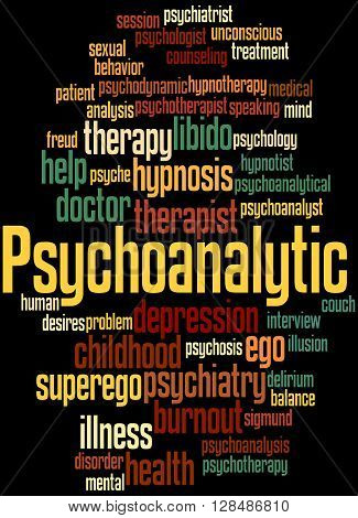 Psychoanalytic, Word Cloud Concept