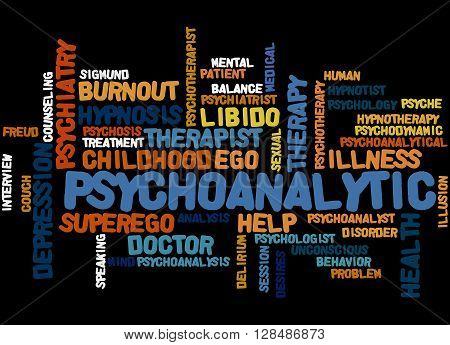 Psychoanalytic, Word Cloud Concept 8