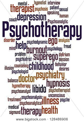 Psychotherapy, Word Cloud Concept 2