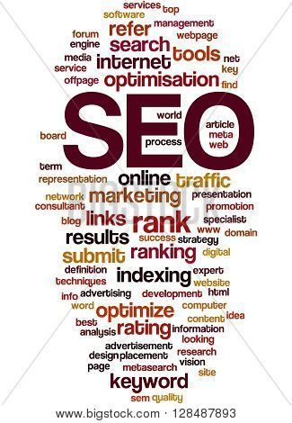 Seo, Search Engine Optimization Word Cloud Concept 2