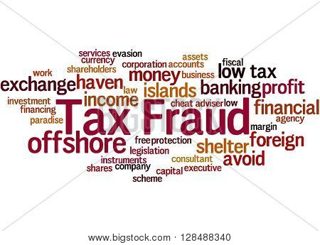 Tax Fraud, Word Cloud Concept 2