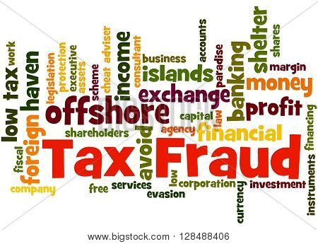 Tax Fraud, Word Cloud Concept 7