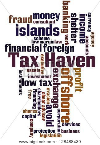 Tax Haven, Word Cloud Concept