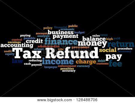 Tax Refund, Word Cloud Concept 8