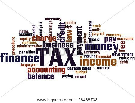 Tax, Word Cloud Concept 3