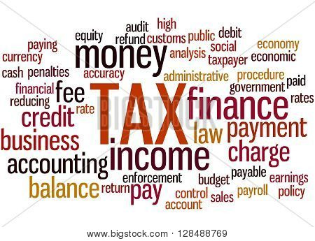 Tax, Word Cloud Concept 8