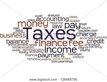 Taxes, Word Cloud Concept 2