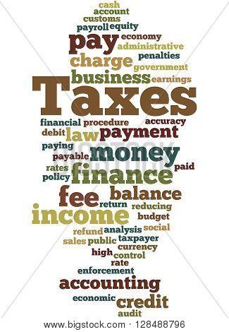 Taxes, Word Cloud Concept 3