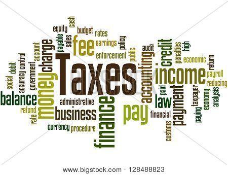 Taxes, Word Cloud Concept 7