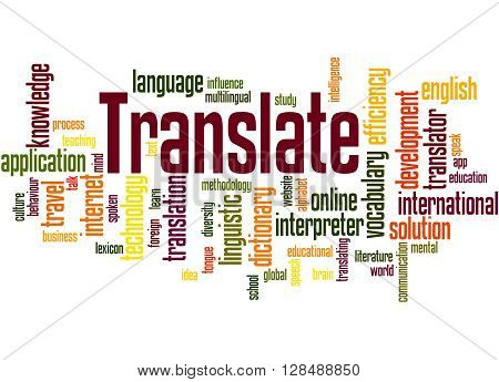Translate, Word Cloud Concept 3