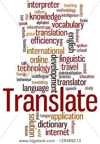 Translate, Word Cloud Concept 9
