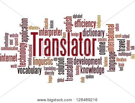 Translator, Word Cloud Concept