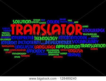 Translator, Word Cloud Concept 4