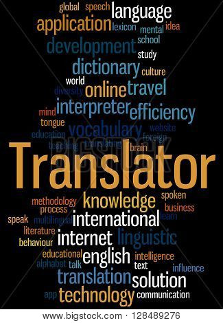 Translator, Word Cloud Concept 6