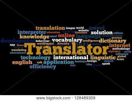 Translator, Word Cloud Concept 9