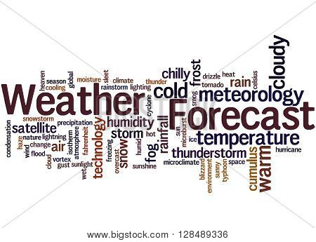 Weather Forecast, Word Cloud Concept 2