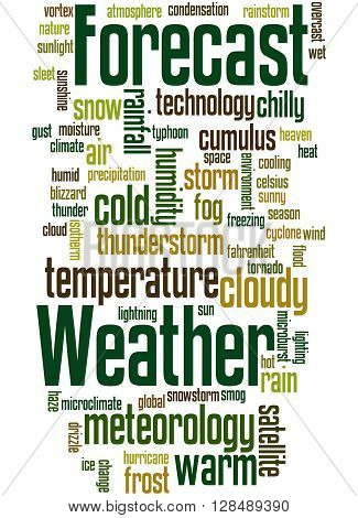 Weather Forecast, Word Cloud Concept 7