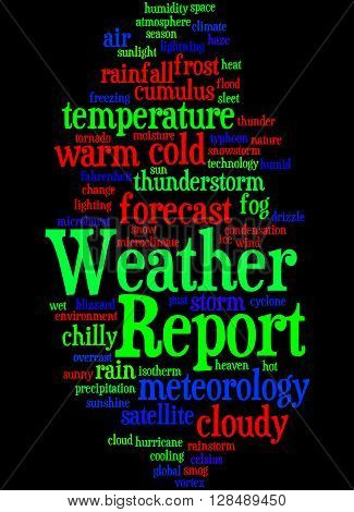 Weather Report, Word Cloud Concept 5