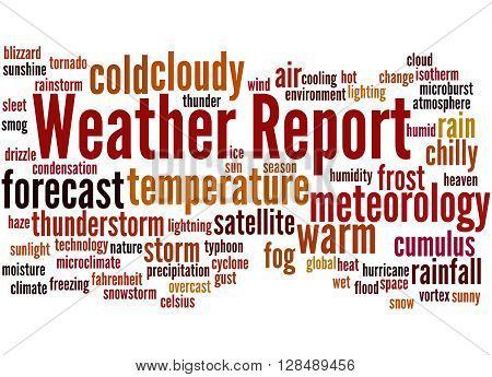 Weather Report, Word Cloud Concept 6
