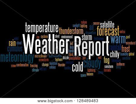 Weather Report, Word Cloud Concept 9